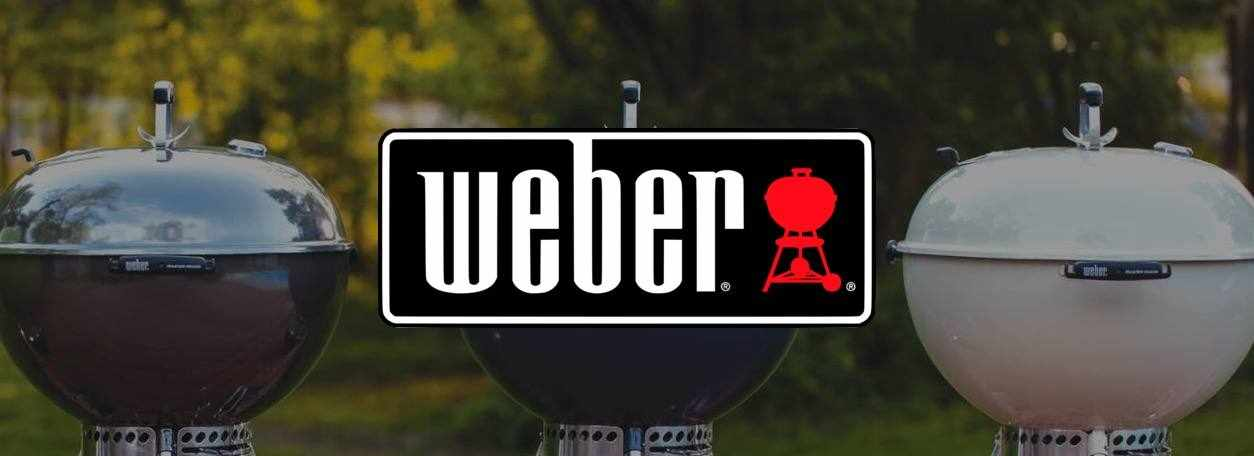 Weber logo with grills in background