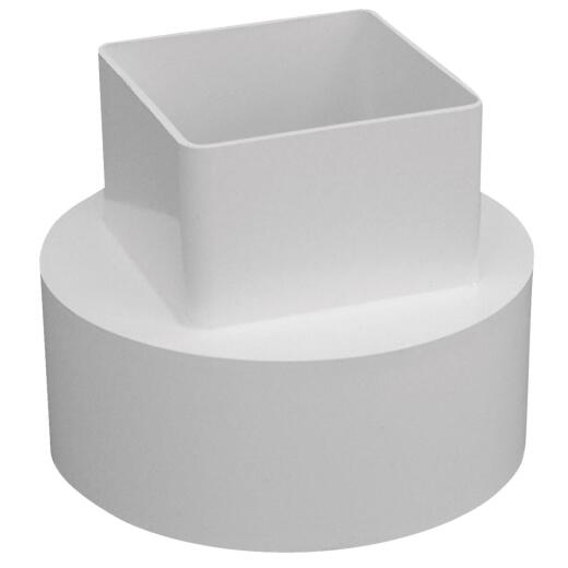 Genova RainGo 4 In. White Downspout Adapter