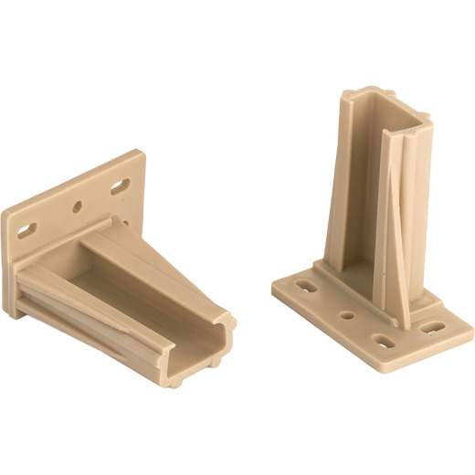 "Knape & Vogt 2-3/8"" Plastic Drawer Slide Mounting Bracket (2-Pack)"