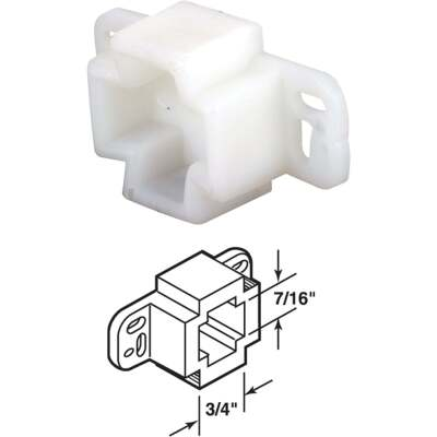 Prime-Line Nylon White Track Socket (2-Pack)