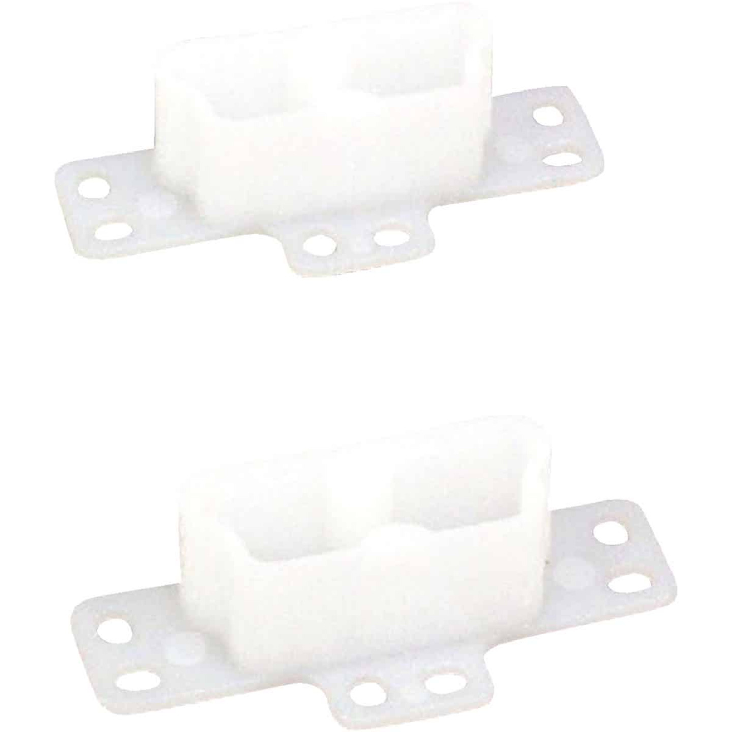 "United States Hardware 2-3/4"" Rear Plastic White Track Socket (2-Pack) Image 1"