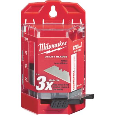 Milwaukee General Purpose 2-Point 2-3/8 In. Utility Knife Blade (50-Pack)