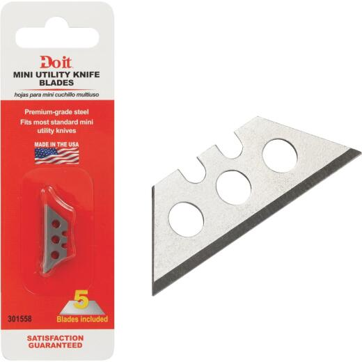 Do it 2-Point Mini 1 In. Utility Knife Blade (5-Pack)