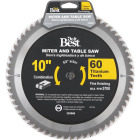 Do it Best Professional 10 In. 60-Tooth Fine Crosscut/Plywood Circular Saw Blade Image 1