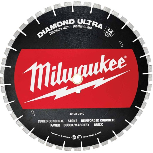 Milwaukee 14 In. Ultra Segmented Rim Dry/Wet Cut Diamond Blade