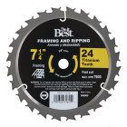 Do it Best Professional 7-1/4 In. 24-Tooth Framing & Ripping Circular Saw Blade, Bulk Image 1