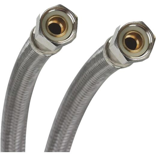 Fluidmaster 3/8 In. x 3/8 In. x 60 In. Stainless Steel Dishwasher Connector