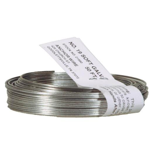 HILLMAN Anchor Wire 50 Ft. 19 Ga. Galvanized StovePipe And Mechanics General-Purpose Wire