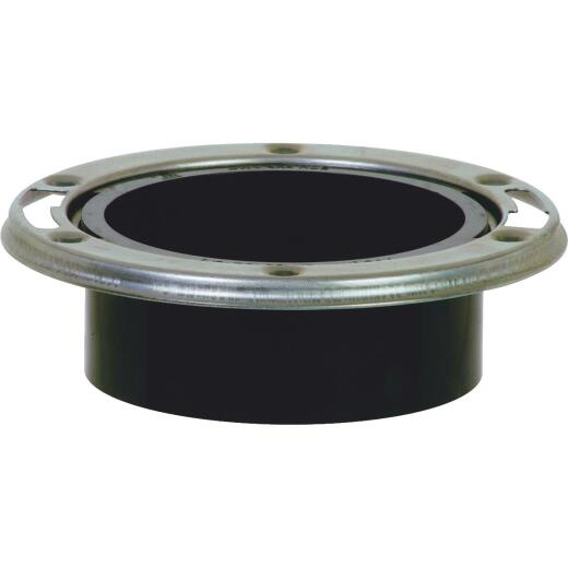 Sioux Chief 4 In. x 3 In. ABS Closet Flange Toilet Flange with Stainless Steel Ring