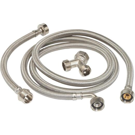 ProLine 3/4 In. FHT x 12 In. L Appliance Connector Kit for Steam Dryer