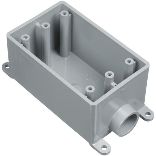 Carlon 1-Gang PVC Molded Rigid Non-Metallic Dead-End Termination Wall Box, 1/2 In. Outlet