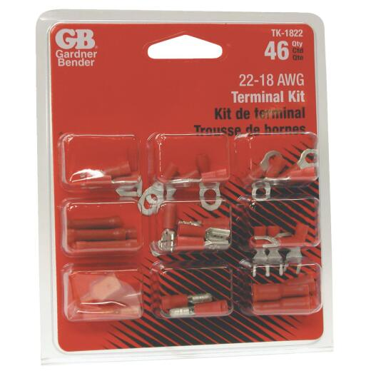 Gardner Bender 18 to 22 AWG 46 Pieces Wire Terminal Kit