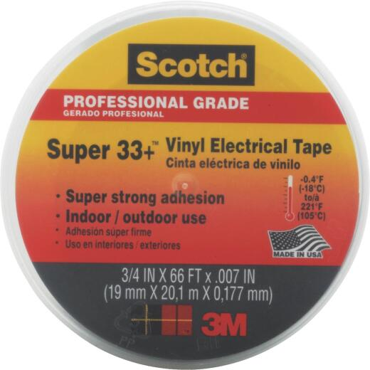 3M Scotch General Application 3/4 In. x 66 Ft. Vinyl Plastic Electrical Tape