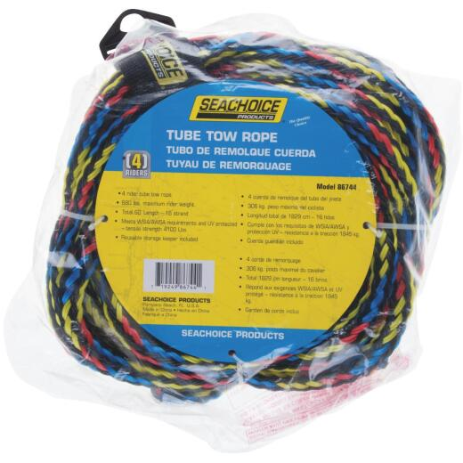 Seachoice 60 Ft. Tube Tow Rope, 1 to 4 Rider (680 Lb.)