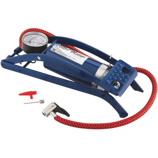 Custom Accessories 100 psi Steel Frame Deluxe Foot Pump