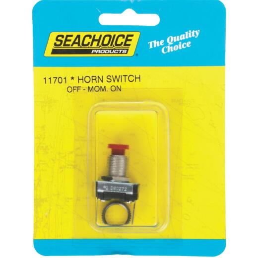 Seachoice Pushbutton Horn Switch, Off/Mom