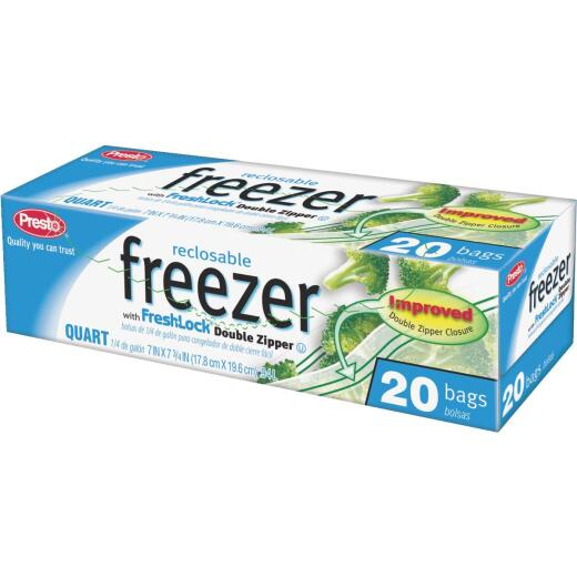 Presto 1 Qt. Reclosable Double Zipper Freezer Bag (20 Count)