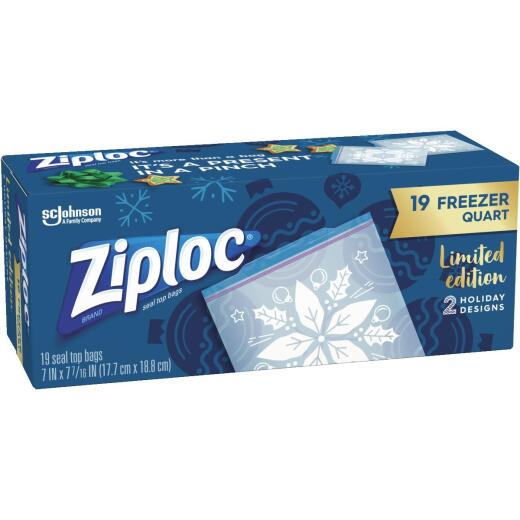 Ziploc Quart Holiday Freezer Bag (19 Count)