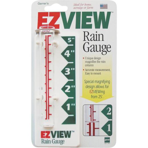 EZView 5 In. Glass Rain Gauge
