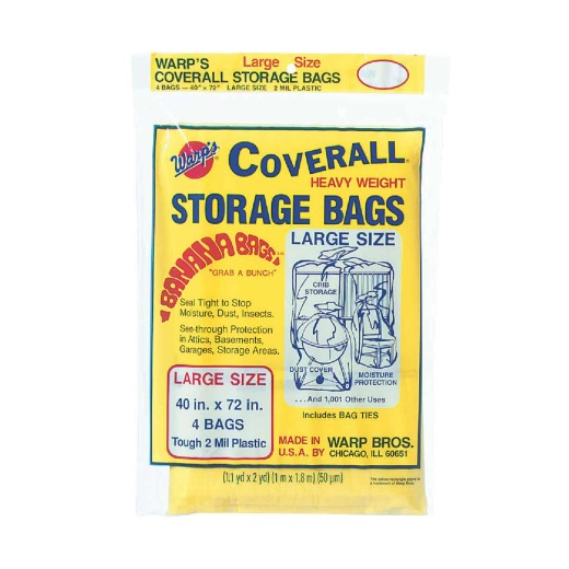 Warp's Coverall 40 In. x 72 In. Heavyweight Storage Bag (4-Count)