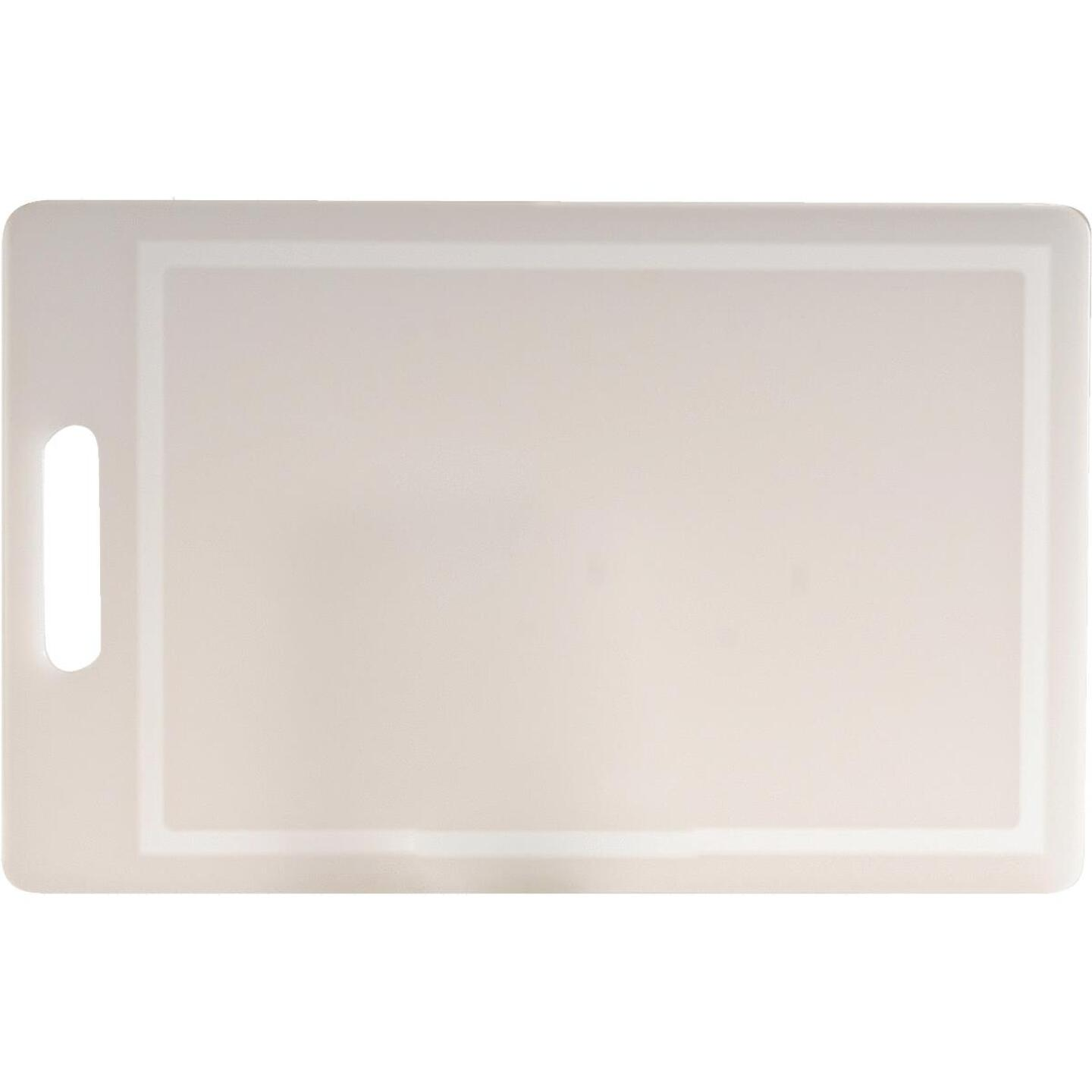 Norpro 10 In. x 16 In. White Polyethylene Professional Cutting Board Image 1