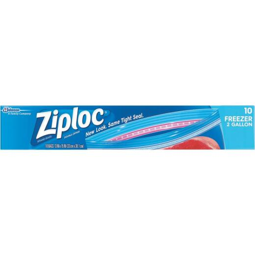 Ziploc 2 Gal. Double Zipper Freezer Bag (10 Count)