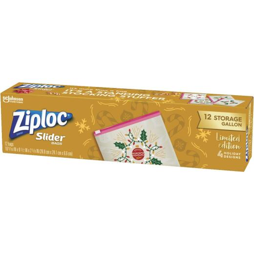 Ziploc Gallon Slider Holiday Storage Bag (12 Count)