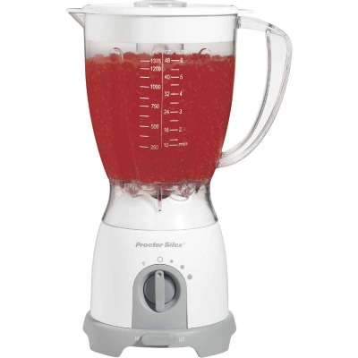 Proctor-Silex 8-Speed White Blender