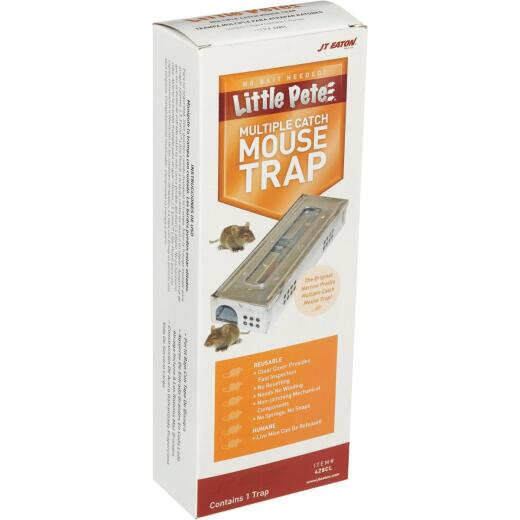 JT Eaton Little Pete Mechanical Mouse Trap with Clear Inspection Window (1-Pack)