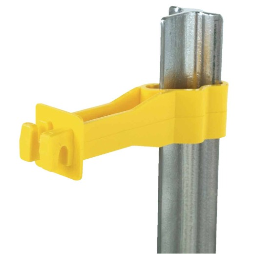 Dare Back Side, Snap-on Yellow Polyethylene Electric Fence Insulator (25-Pack)