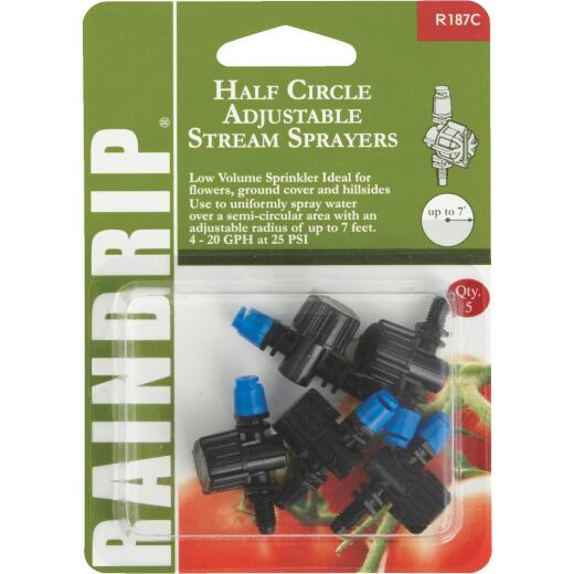 Raindrip Half Circle Adjustable Sprayer (5-Pack)