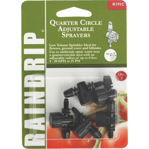 Raindrip Quarter Circle Adjustable Sprayer (5-Pack)