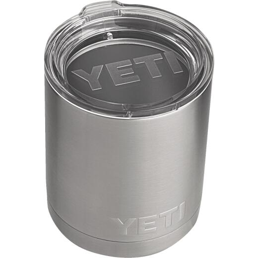 Yeti Rambler Lowball 10 Oz. Silver Stainless Steel Insulated Tumbler