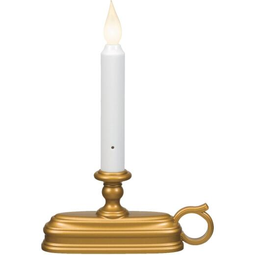 Xodus Deluxe 6 In. W. x 9 In. H. x 1.75 In. D. Antique Brass LED Battery Operated Candle