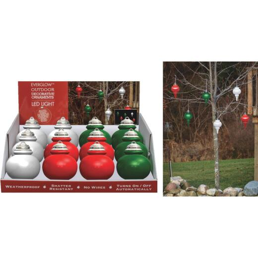 Xodus 9 In. Shatter Resistant LED Outdoor Finial Christmas Ornament