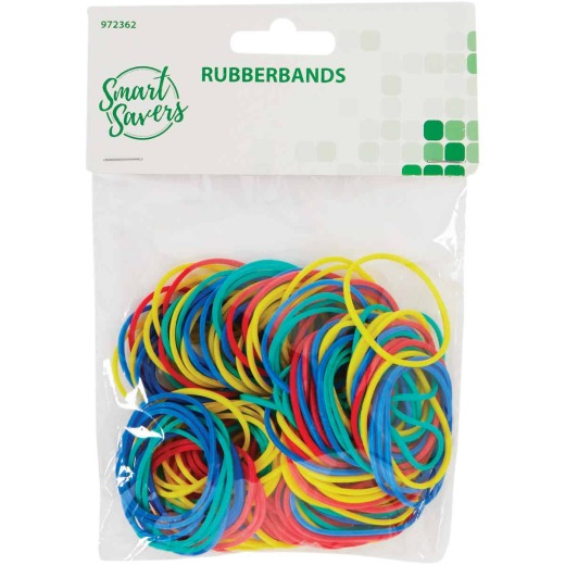 Smart Savers Assorted Color Rubber Bands (330-Pack)